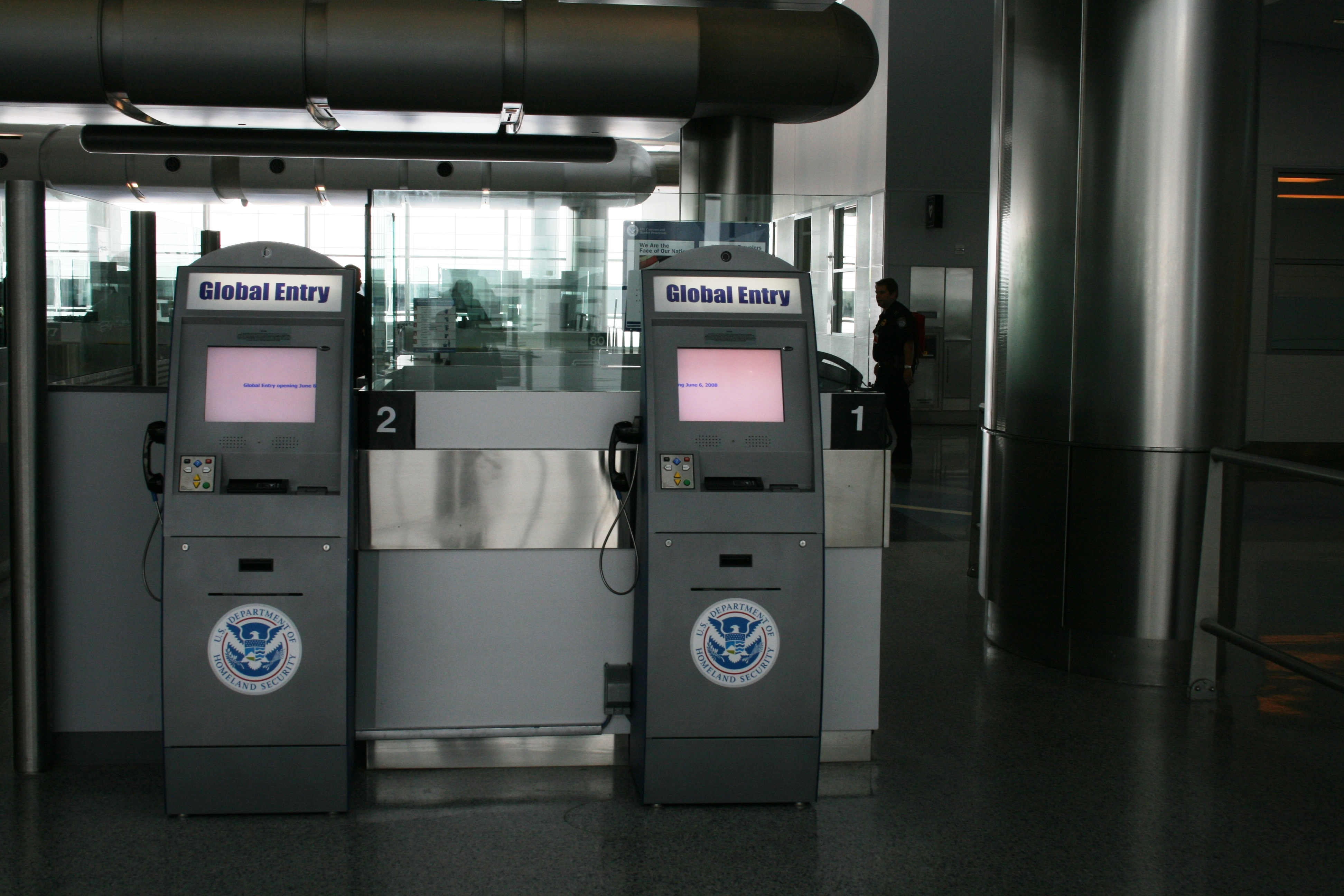 Global Entry Kiosks At The Houston George Bush Intercontinental Airport  (department Of Homeland Security Photo)